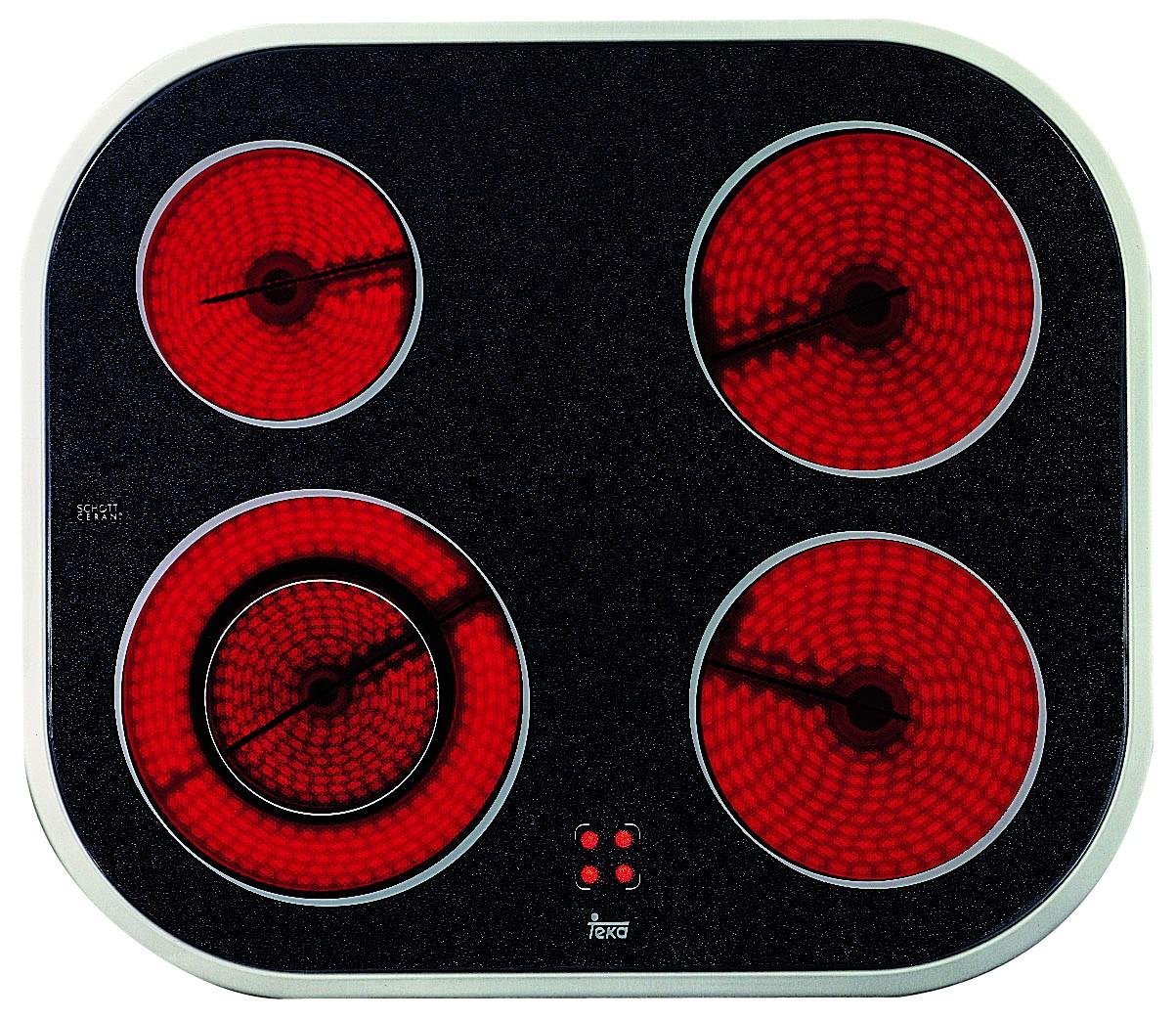 Placa Vitro Teka Vt N Dc Ix 4quem 60cm Marco Inox