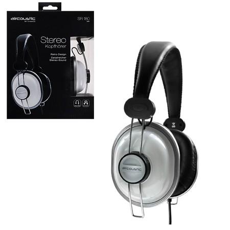 Auriculares Diadema  Retro 100db Blanco 28880