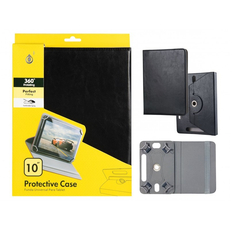 "Funda Tablet Universal 10"" Jc Rotacion 360 Negra"
