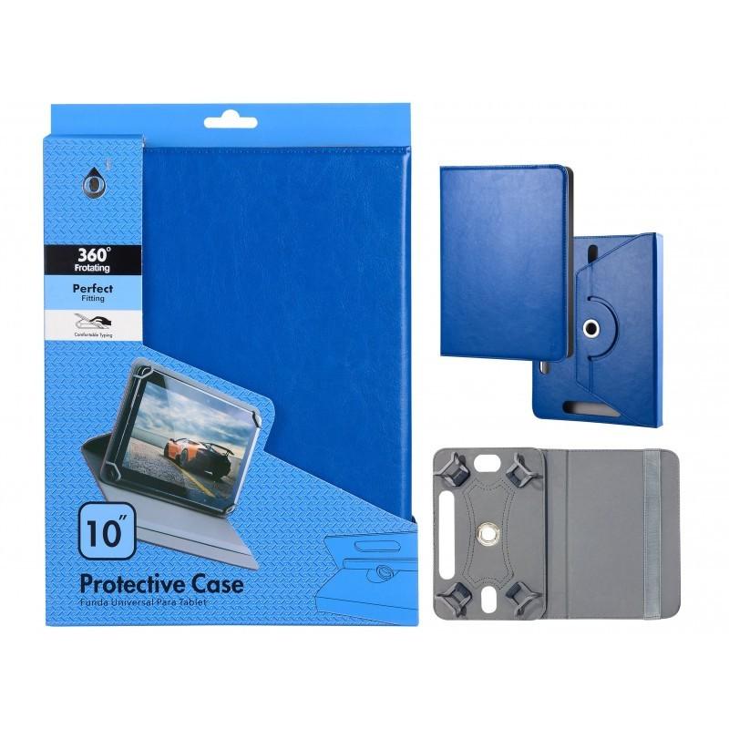 "Funda Tablet Universal 10"" Jc Rotacion 360 Azul"