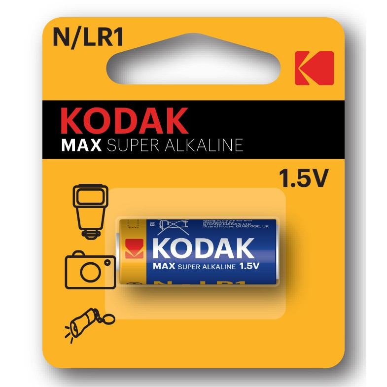 Pila Cilindrica Alcalina Mando Kodak N Lr1 (1un)