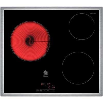 Placa Vitro Balay 3eb714xr 3fuegos 60cm Marco Acer