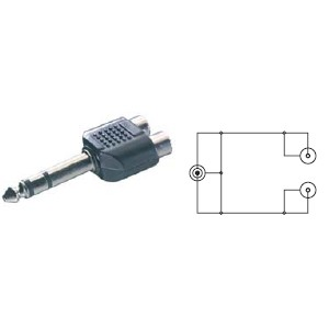 Adaptador Vivanco Y Jack 3,5mm A 2rca Hembra.41047