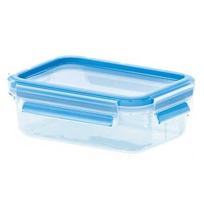 Contenedor Portalimentos Emsa 0.55l Rectang Azul