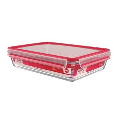 Contenedor Portalimentos Emsa Cristal 0,5l Rojo