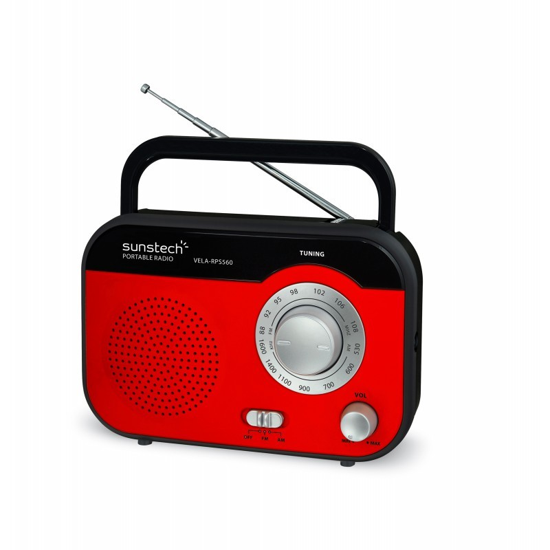 Radio Portatil Sunstech Rps560rd Pilas/Ac Roja