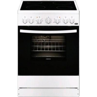 Cocina Vitro Zanussi Zcv65201wa 4f 60cm Blanca