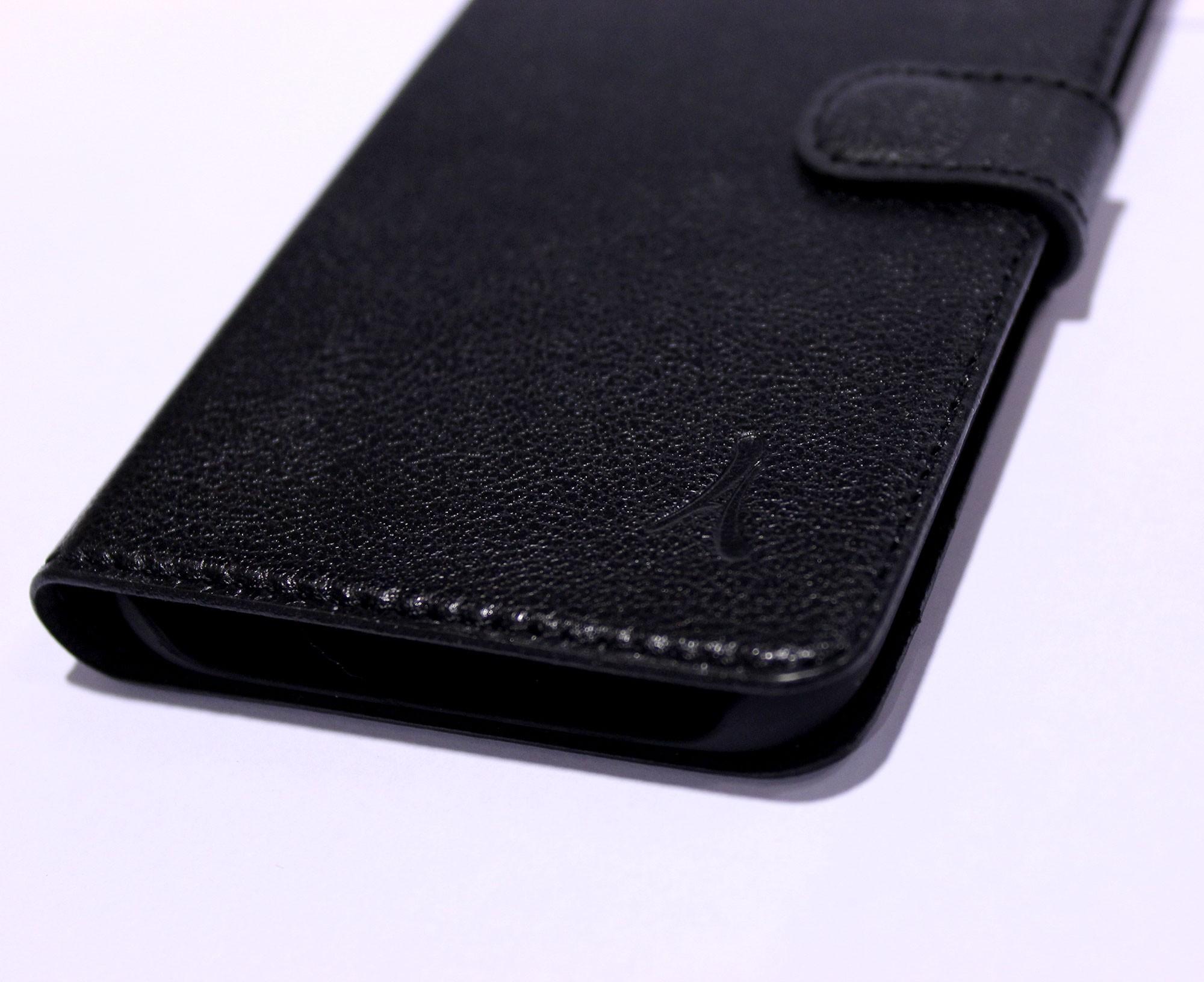Funda Piel Akashi Samsung S7 Flat Negra