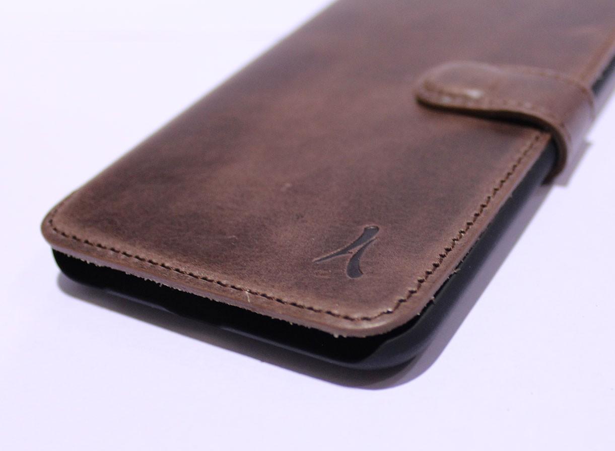 Funda Piel Akashi Samsung S7 Edge Marron
