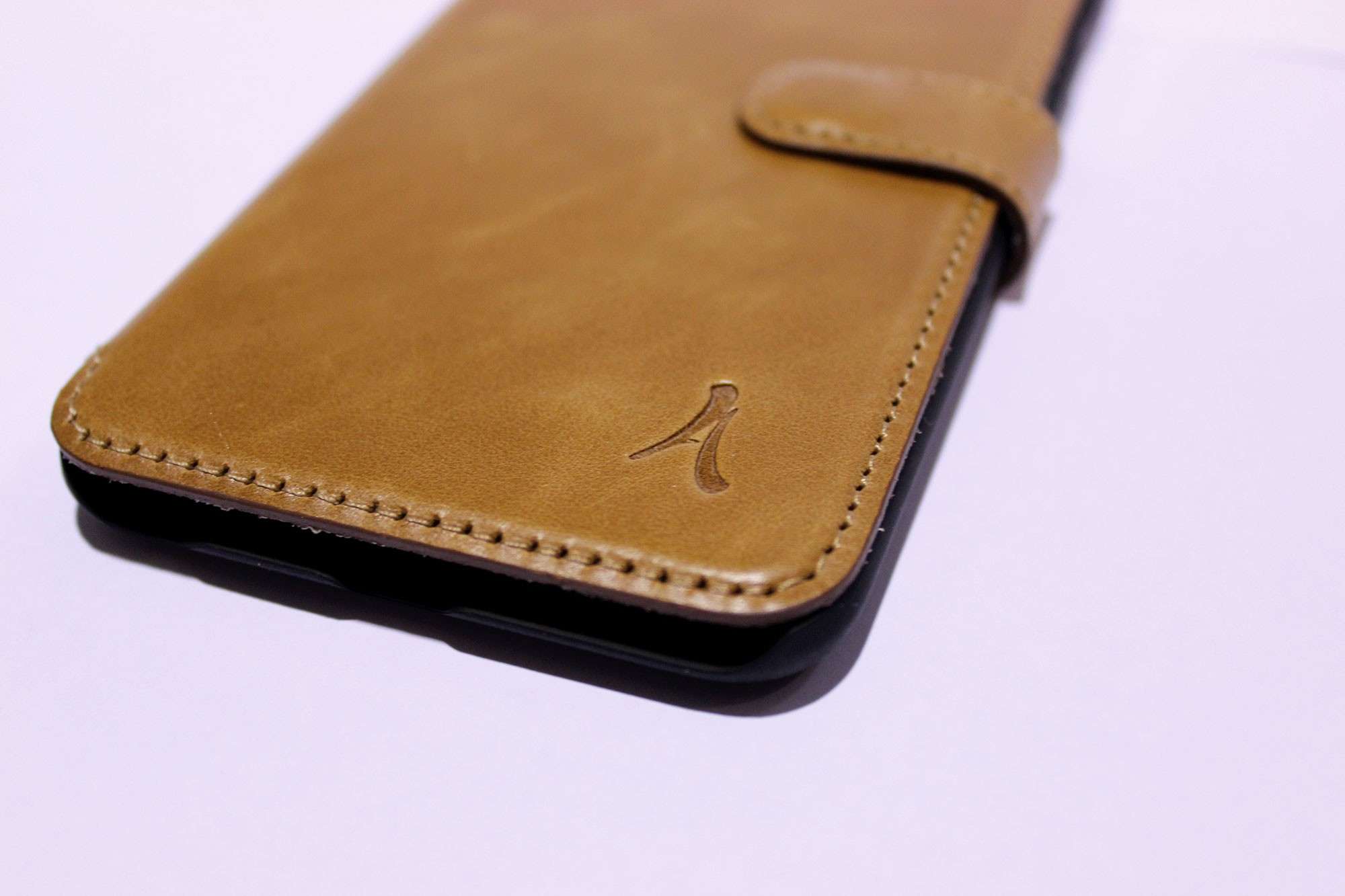 Funda Piel Akashi Samsung S7 Edge Beige