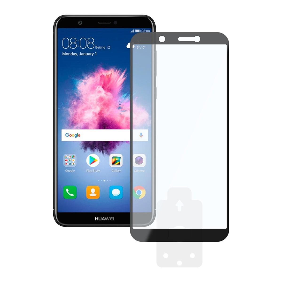 Protector Pantalla Ksix Huawei P Smart Cristal Templado Borde Negro