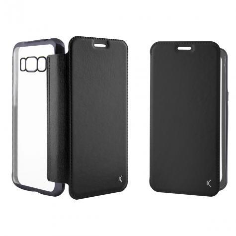 Funda Folio Metal Ksix Tpu Galaxy S8+ Negra