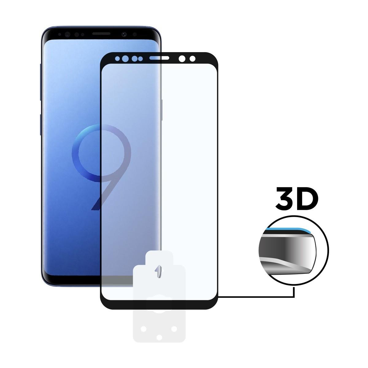 Protector Pantalla Ksix Galaxy S9 3d Cristal Templado Borde Negro