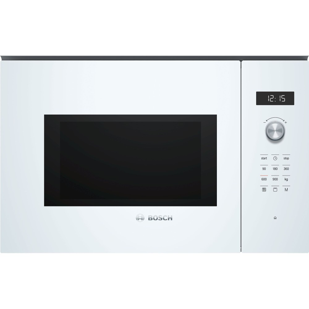 Microondas Grill 25l Bosch Bel554mw0 Cristal Blanco Integrable Sin Marco