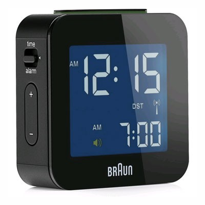 Reloj Despertador Braun Bnc008bk Digital Negro