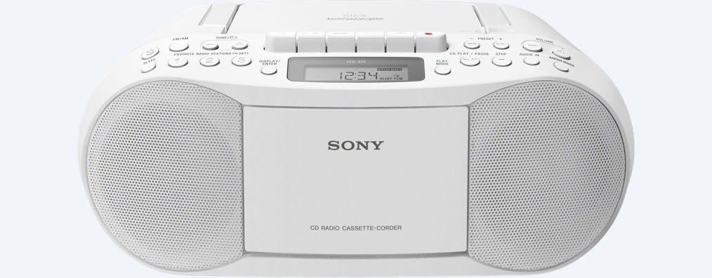 Radio Cd Sony Cfds70w Blanco Con Cassette
