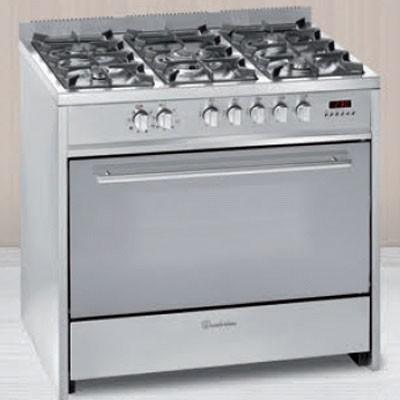 Cocina Gas Meireles E911x 5f 90cm But Inox Horno E