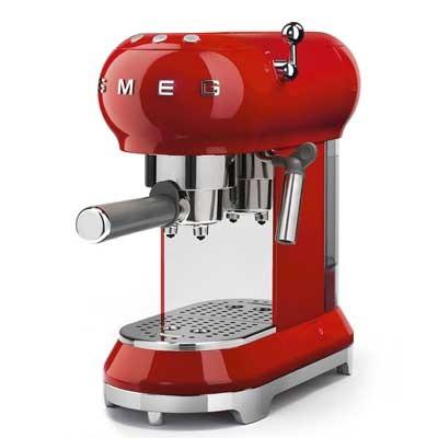 Cafetera Express Smeg Ecf01rdeu Roja