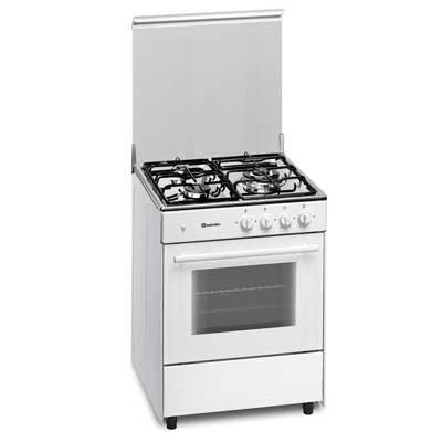 Cocina Gas Meireles G603w Nat 3f 60x60cm Blanca
