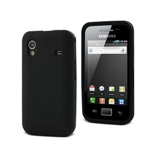 Funda Silicona Negra Samsung Ace S5830 Muvit