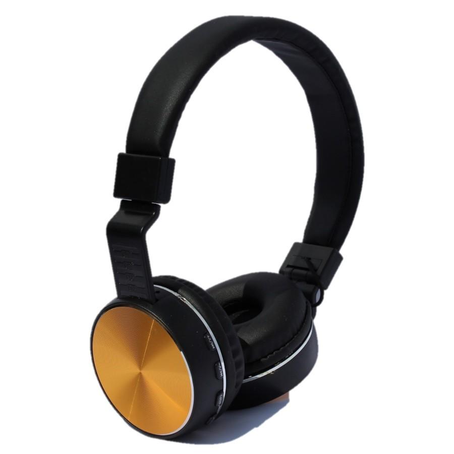 Auriculares Diadema Myo My4031d Bluetooth Radio Fm Con Microfono Dorado