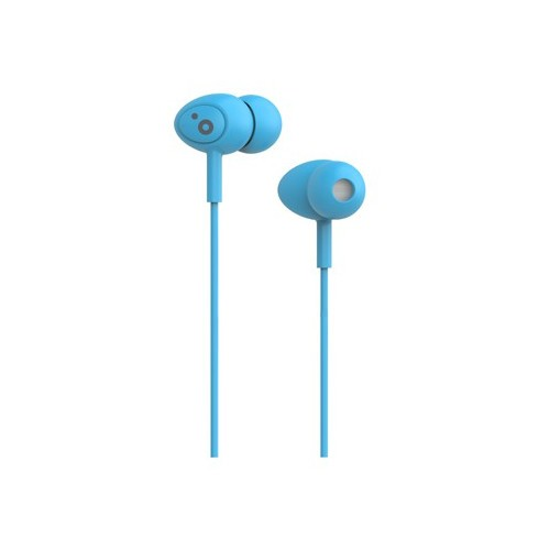 Auriculares Boton Sunstech Pops Microfono Azul