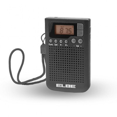 Radio Bolsillo Elbe Rf93 Digital Negra