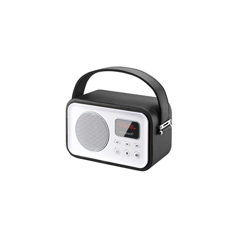 Radio Portatil Sunstech Rpbt450or Retro Negra
