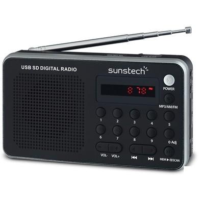 Radio Portatil Sunstech Rpds32sl Plata