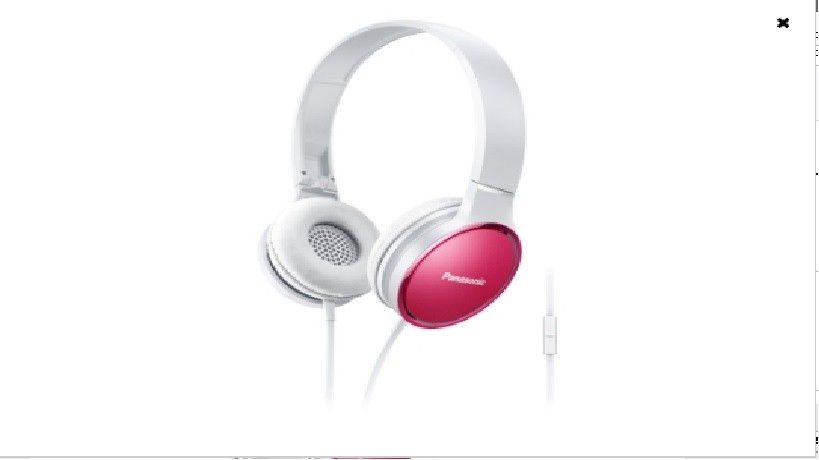 Auricular Diadema Panasonic Rp-Hf300me-P Rosa