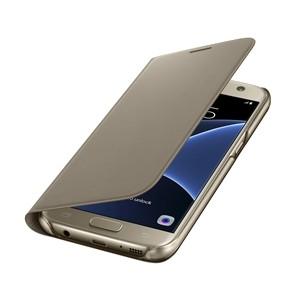 Funda Samsung Flip Wallet Galaxy S7 Oro