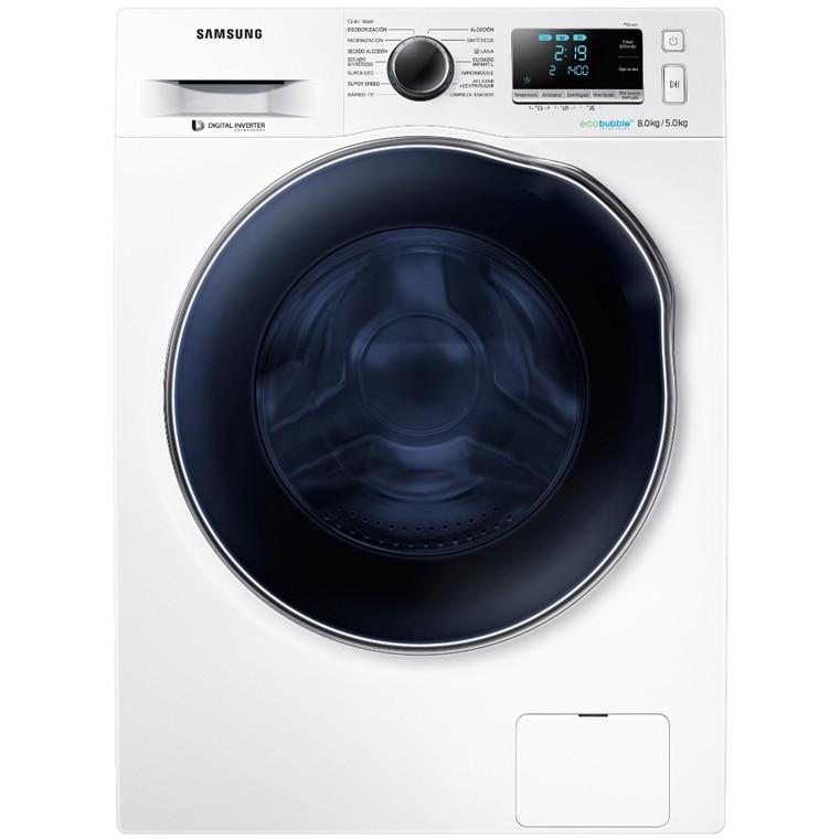 Lavadora-Secadora C/F Samsung Wd80j6a10aw/Ec 5/8kg 1400rpm Blanca A