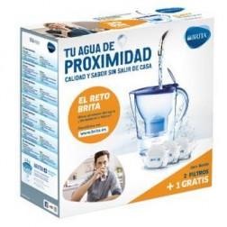 Jarra Agua Brita Marella Azul + 3 Filtros Maxtra+