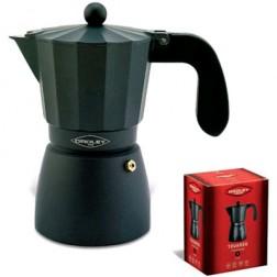 Cafetera Fuego Oroley Touareg 3t Aluminio Negra