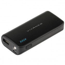 Bateria Externa Vivanco Power Bank 6700mah Usb Negra