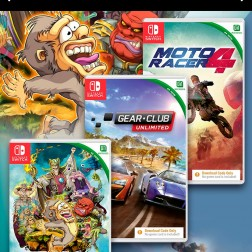 Consola Nintendo Switch Con Tres Juegos Moto Racer 4, Gear Club, Toki