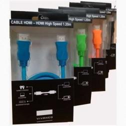 Cable Vivanco Hdmi-Hdmi High Speed 1.2m Azul 76824