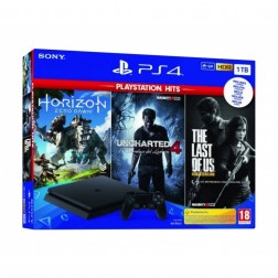 Consola Sony Ps4 1tb + Tlou + Hzd + Uncharted 4