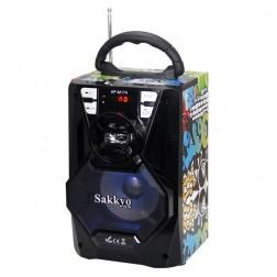 Mini Cadena Portatil Sakkyo Apm174d Waves Bateria 10w Rms Karaoke