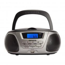 Radio Cd Aiwa Bbtu-300bk Lector Usb, Bluetooth, Gris