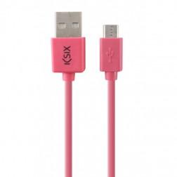 Cable Datos/Cargador Ksix Usb Micro 1m Rosa
