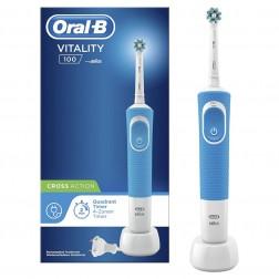 Cepillo Dental Braun D100 Vitality Cross Action Azul