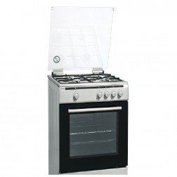 Cocina Gas Hyundai Hyco648bex 4f 60cm Inox But Grill Electrico