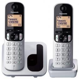 "Telefono Inal Panasonic Kx-Tgc212sps 1.6"" Duo Gris/Negro"