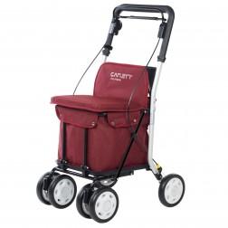 Carro Compra Carlett Lett800s-6 Rojo Asiento 4 Ruedas