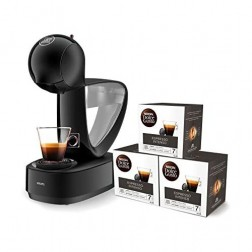 Cafetera Dolce Gusto + 3 Paq.Cafe Delonghi Infinissima Negra Edg160a