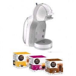 Cafetera+3 Paq Cafe Dolce Gusto Krups Mini Me Blan