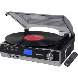 Giradiscos Sunstech Pxe23bk Bluetooth, Radio Fm, Usb, Rca