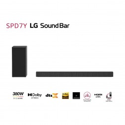Barra Sonido Lg Spd7y 380w Subwoofer Inal., Bluetooth 4.0 Dolby Atmos