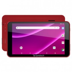 """Tablet 7"""" Sunstech Tab781rd 8gb Quad Core Android 8.1 Roja"""
